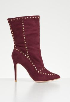Pamela boot - burgundy Footwork Boots | Superbalist.com Stiletto Heels, Two By Two, Burgundy, Footwear, Boots, How To Wear, Women, Fashion, Crotch Boots