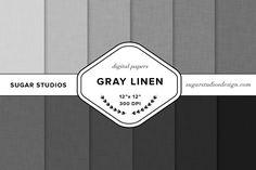 Gray Linen Digital Background Set - Textures - 1