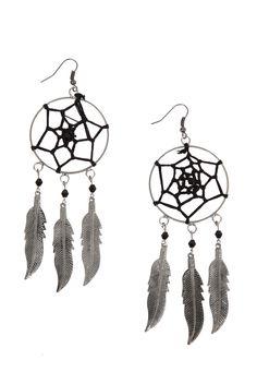 Silver Dreamcatcher Earrings | Hot Topic