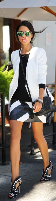 A Day In A Life With Bailey44 by Vivaluxury #black and white #black and white fashions #black and white women's fashions #black and white couture