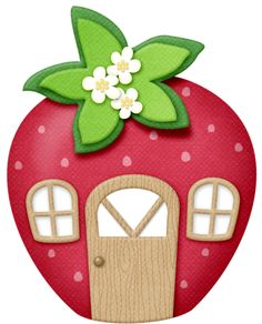 Strawberry house PNG and Clipart Strawberry Shortcake Pictures, Strawberry Shortcake Party, Strawberry Clipart, Diy And Crafts, Crafts For Kids, Laura Lee, Felt Ornaments, Christmas Ornament, Baby Birthday