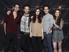 The Mortal Instruments Cast (Characters LtoR: Simon, Jace, Clary, Alec, and Isabelle)