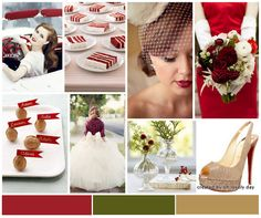 red accent wedding