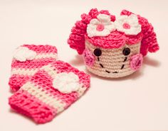 MY CROCHET - Crochet Lala Loopsy Hat and leg warmer set - Valentines Day. $35.00, via Etsy.