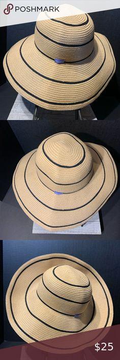 NEW OS NINE WEST Chic Twill Denim Cloche Women/'s Sun Hat UPF 50 Black or Tan