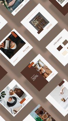 Coffee Design Layout - - - Coffee House New York - Coffee Cozy Template Instagram Feed Layout, Instagram Post Template, Instagram Design, Instagram Shop, Instagram Posts, Design Café, Interior Design, Theme Template, Coffee Instagram