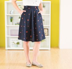 Sewaholic Hollyburn Skirt Kit with Cotton & Steel Fabric at Craftsy -