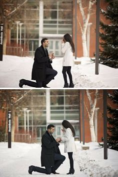 He surprised her with a romantic marriage proposal at the same place where they had their first date four years ago!