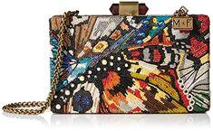 Mary Frances Modern Butterfly Beaded Crossbody Handbag