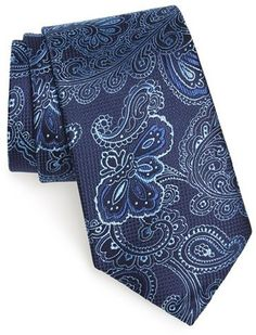 $24, Nordstrom Colorful Paisley Silk Tie. Sold by Nordstrom. Click for more info: https://lookastic.com/men/shop_items/377120/redirect