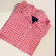 Charter Club pink collared shirt Pink Charter Club long sleeve collared shirt. Button down with buttons on both sleeves for rolling and securing up the forearm. Charter Club Tops Button Down Shirts