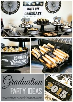 Silver/Gold Graduation Party Ideas via @atozebra - It's so simple, but elegant and beautiful!g