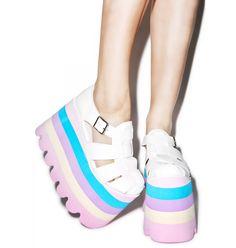 Current Mood Perf Pastel Skylar Sandals