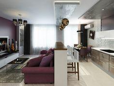 Дизайн-проект#двушка_в_ЖК_Никольский для молодого парня, который ведет активный образ жизни. Интерьер кухни - гостиной выполнен в светлых тонах с использованием декоративной штукатурки и светодиодной подсветки. Яркий акцент на диване и стене с телевизором. Спальня по цветовой гамме повторяет общую концепцию квартиры, но на стене напротив окна добавили темно - серый графитовый цвет. Сайт: http://саратов-дизайн.рф Группа: vk.com/designsaratov Телефон: 89271332827