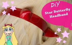 Image result for star butterfly wand tutorial Tutorial Cosplay, Cosplay Diy, 2017 Cosplay, Cosplay Ideas, Horn Headband, Diy Headband, Headbands, Star Butterfly Costume, Butterfly Crafts