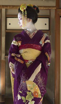 Geisha Japan, Geisha Art, Japanese Geisha, Japanese Kimono, Japanese Fashion, Kyoto Japan, Kabuki Costume, Memoirs Of A Geisha, Kimono Design