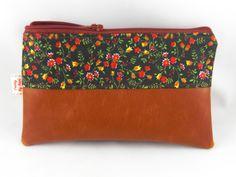 Taschenorganizer - pretty Täschchen aus Baumwolle und Leder - ein Designerstück…