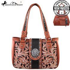 Montana West Floral Concho Concealed Carry Handbag (MW180G-8394)