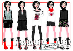 """ILLUSTRATION FOR TEEN COLLECTION """"PUNK CHIC"""" MARCON PATRIZIA"""