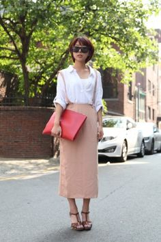 Sweet style with an edge on the streets of Seoul! Photo by Stacey Young