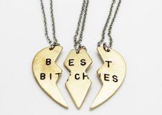 Toppunt: Collar BEST BITCHES / Tres piezas - Kichink