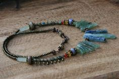 From the Waters Rustic Primitive Necklace by Tribalis on Etsy, $53.00