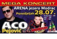 MEGA KONCERT - ACO PEJOVIĆ I MENSUR SALKIĆ @ Jezero Modrac - Lukavac