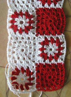 May 2014 - slowly - slowly Baby Boy Knitting Patterns, Vintage Crochet Patterns, Crochet Flower Patterns, Crochet Designs, Crochet Doily Rug, Crochet Squares, Crochet Granny, Crochet Stitches, Crochet T Shirts