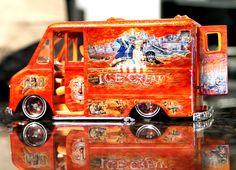 Model of Ice cream truck Pick Up, Lowrider Model Cars, Model Cars Building, Hobby Cars, Utility Truck, Ice Cream Van, Plastic Model Cars, Model Cars Kits, Custom Trucks