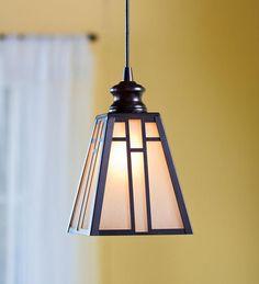 In Amber Glow Glass Mission Style Pendant Light Kitchen Lighting Craftsman Ceiling Lighting, Kitchen Ceiling Lights, Kitchen Pendant Lighting, Dining Room Lighting, Pendant Light Fixtures, Pendant Lights, Craftsman Style Interiors, Craftsman Style Kitchens, Modern Craftsman