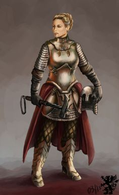 Hi! Your awesome blog has inspired me to do a concept of a female warrior character. It's waaay out of my comfort zone: I rarely draw females and it's my first time drawing a knight/knight armor. I'm pretty happy with the result though. I hope you would like it too. Cheers!-Elena.