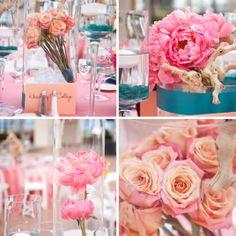 llanes weddings - coral and teal