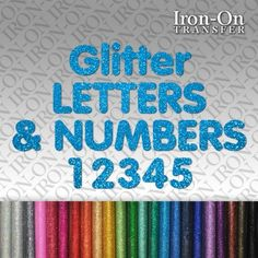 iron on transfers letters numbers