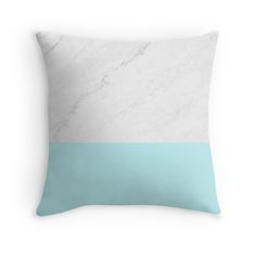 Marble And Aqua Blue #throw-pillow by ARTbyJWP in Redbubble #pillow #pillows #throwpillow #throwpillows #cushion #pillowcover #homedecor #marbled #redbubble #artbyjwp #blue #marble #marbled #artprints #buyart