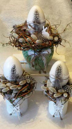 Oster-Souvenirs - New Ideas Happy Easter, Easter Bunny, Easter Eggs, Easter Flower Arrangements, Decoration Originale, Deco Floral, Egg Decorating, Easter Wreaths, Spring Crafts