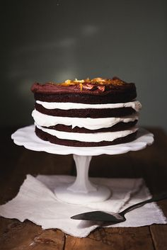 Chocolate Cake with Orange Whipped Cream.