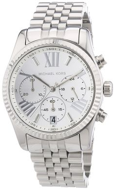 Amazon.com: Michael Kors Lexington Chronograph Stainless Steel Ladies Watch MK5555: Michael Kors: Clothing