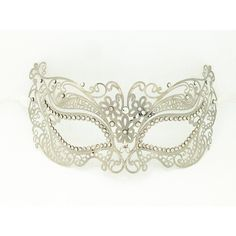 Amazon.com: Silver Metal Laser Cut Venetian Masquerade Women's Mask... (25 VEF) ❤ liked on Polyvore featuring masks