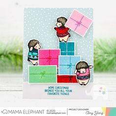 mama elephant | design blog: STAMP HIGHLIGHT: Colorblock Gifts