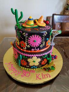 Cinco de mayo cake fiestacake Mexican Fiesta Birthday Party, Mexican Party, Mexican Fiesta Cake, Mexican Themed Cakes, Mexican Cakes, Taco Party, Novelty Cakes, Occasion Cakes, Cute Cakes