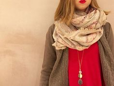 A comfy tee, a cozy cardigan, and cute accessories to top it off! #Anthropologie #anthrops