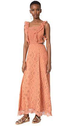 Nightcap x Carisa Rene Aimee Eyelet Maxi Dress