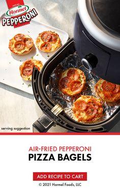 Air Fryer Oven Recipes, Air Frier Recipes, Air Fryer Dinner Recipes, Appetizer Recipes, Appetizers, Hormel Pepperoni, Crockpot Recipes, Cooking Recipes, Pizza