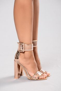Cuff Me To It Heel - Rose Gold