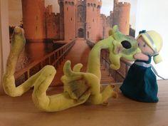 La Bambina (12 cm) e il Drago (h 16 cm) - miniature bambole - gioco posizionabile di DeedeeMagicWorld su Etsy