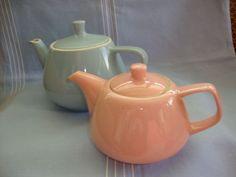 2-Teekannen-Keramik-50er-Jahre