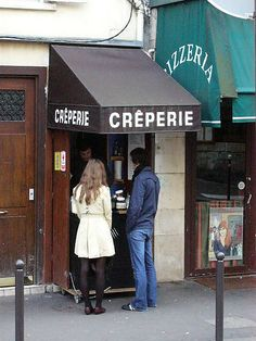 Smallest creperie in town...surely--rue des Abbesses, Montmartre