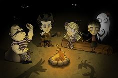 Don't starve art style will match well with our theme