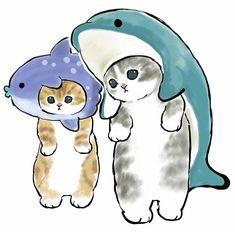 Kitten Drawing, Cute Cat Drawing, Cute Animal Drawings Kawaii, Kawaii Art, Kawaii Drawings, Cute Drawings, Fluffy Kittens, Little Kitty, Cute Disney Wallpaper