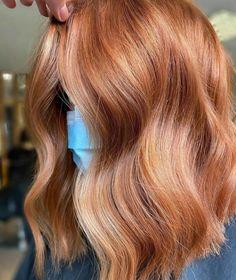 Ginger Hair Dyed, Ginger Hair Color, Strawberry Blonde Hair Color, Dyed Hair, Copper Blonde Hair, Red Blonde Hair, Copper Blonde Balayage, Winter Blonde Hair, Balayage Hair Auburn